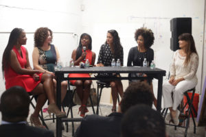 Panelists of whoisdésir launch 2017 kalyn james bonnie quiceno elsa vazquez cemone glinton alicia couri dani La Barrie